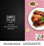 dining table view top with... | Shutterstock .eps vector #1010106370