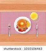 breakfast food menu with... | Shutterstock .eps vector #1010106463