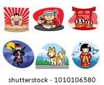 japan badge design set | Shutterstock .eps vector #1010106580