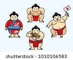 set of cute sumo japan character | Shutterstock .eps vector #1010106583