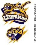 jumping leopard mascot   Shutterstock .eps vector #1010106589