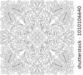 vector paisley kerchief... | Shutterstock .eps vector #1010106640