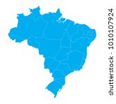 blue map of brazil | Shutterstock .eps vector #1010107924