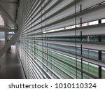 metal grilled wall.  | Shutterstock . vector #1010110324