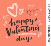happy valentines day ink brush... | Shutterstock .eps vector #1010112484