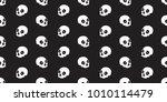 skull seamless pattern... | Shutterstock .eps vector #1010114479
