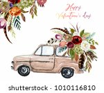 watercolor valentine's day... | Shutterstock . vector #1010116810