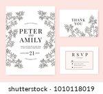 wedding invitation card...   Shutterstock .eps vector #1010118019