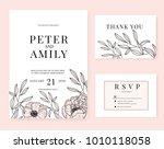 wedding invitation card... | Shutterstock .eps vector #1010118058