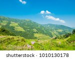 mountains scenery with blue sky ... | Shutterstock . vector #1010130178