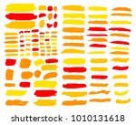 collection of hand drawn golden ... | Shutterstock .eps vector #1010131618
