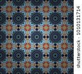 cotton or silk headscarf ... | Shutterstock .eps vector #1010131714