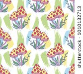vector seamless pattern with... | Shutterstock .eps vector #1010132713