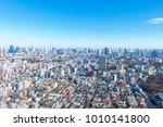 landscape in the city of tokyo... | Shutterstock . vector #1010141800
