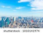 landscape in the city of tokyo... | Shutterstock . vector #1010141974