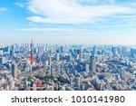 landscape in the city of tokyo... | Shutterstock . vector #1010141980
