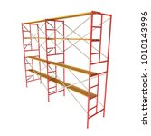 scaffolding metal construction... | Shutterstock . vector #1010143996