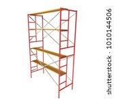 scaffolding metal construction... | Shutterstock . vector #1010144506