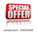 special offer red banner with... | Shutterstock . vector #101014630