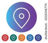 flat map location pointer icon... | Shutterstock .eps vector #1010146774