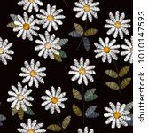 embroidery seamless pattern... | Shutterstock .eps vector #1010147593