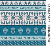 floral indian paisley pattern...   Shutterstock .eps vector #1010148919