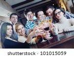 group of happy young people... | Shutterstock . vector #101015059