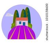 little rural house in provence...   Shutterstock .eps vector #1010158600