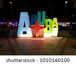 aruba  caribbean   january 06...   Shutterstock . vector #1010160100
