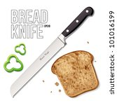 Bread Knife Eps10