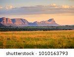 sunrise over the waterberg... | Shutterstock . vector #1010163793