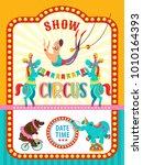 circus artist. circus animals....   Shutterstock .eps vector #1010164393