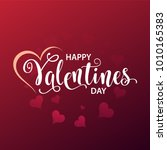 happy valentines day card ... | Shutterstock .eps vector #1010165383