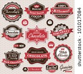 collection of vintage retro... | Shutterstock .eps vector #101017084
