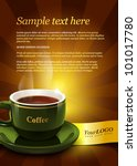 coffee template for advertising | Shutterstock .eps vector #101017780