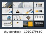 presentation template with... | Shutterstock .eps vector #1010179660