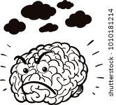 illustration of an angry brain | Shutterstock .eps vector #1010181214