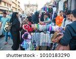 Small photo of Hyderabad / India 27 December2017 Lad Bazar street market towards Charminar at Hyderabad Telangana India