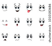 set of different emoticons | Shutterstock .eps vector #1010183686