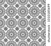 black and white seamless ethnic ... | Shutterstock .eps vector #1010185699