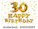 vector happy birthday 30rd... | Shutterstock .eps vector #1010192059