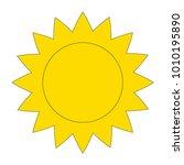 sun cartoon. outlined...   Shutterstock .eps vector #1010195890