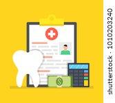 dental insurance  dental care...   Shutterstock .eps vector #1010203240