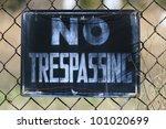 Close Up Of A No Trespassing...