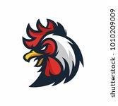animal head   rooster   vector... | Shutterstock .eps vector #1010209009