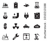solid black vector icon set  ... | Shutterstock .eps vector #1010213188