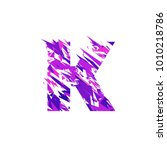 letter k is made in the... | Shutterstock .eps vector #1010218786