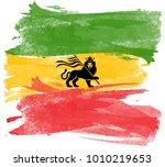 Rastafari Flag Watercolor