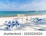 destination wedding venue on...   Shutterstock . vector #1010224324