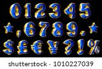 set of golden numbers and... | Shutterstock .eps vector #1010227039